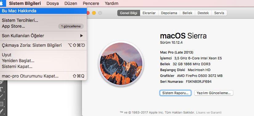 Mac'te Özelliklerine Nasıl Bakılır?