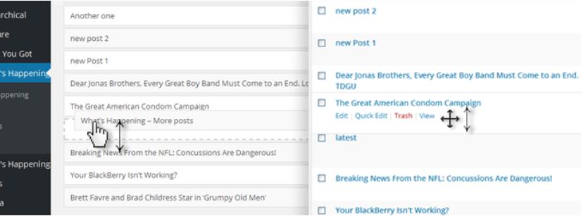WordPress'de Elle Post'ları Sıralamak
